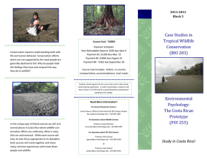 Case Studies in Tropical Wildlife Conservation 2011-2012