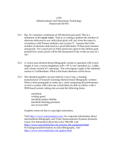 6.781 Submicrometer and Nanometer Technology Homework Set #13