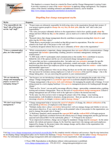 This handout is a resource based on a tutorial by... It provides responses to some of the