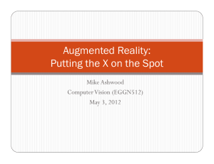 Augmented Reality: Putting the X on the Spot Mike Ashwood