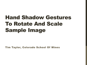 Hand Shadow Gestures To Rotate And Scale Sample Image