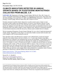 CLIMATE INDICATORS DETECTED IN ANNUAL GROWTH BANDS OF PLEISTOCENE MONTASTRAEA