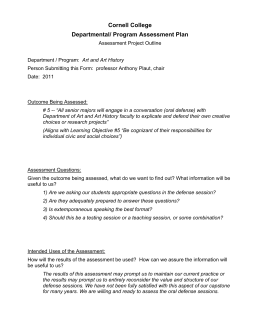 Cornell College Departmental/ Program Assessment Plan
