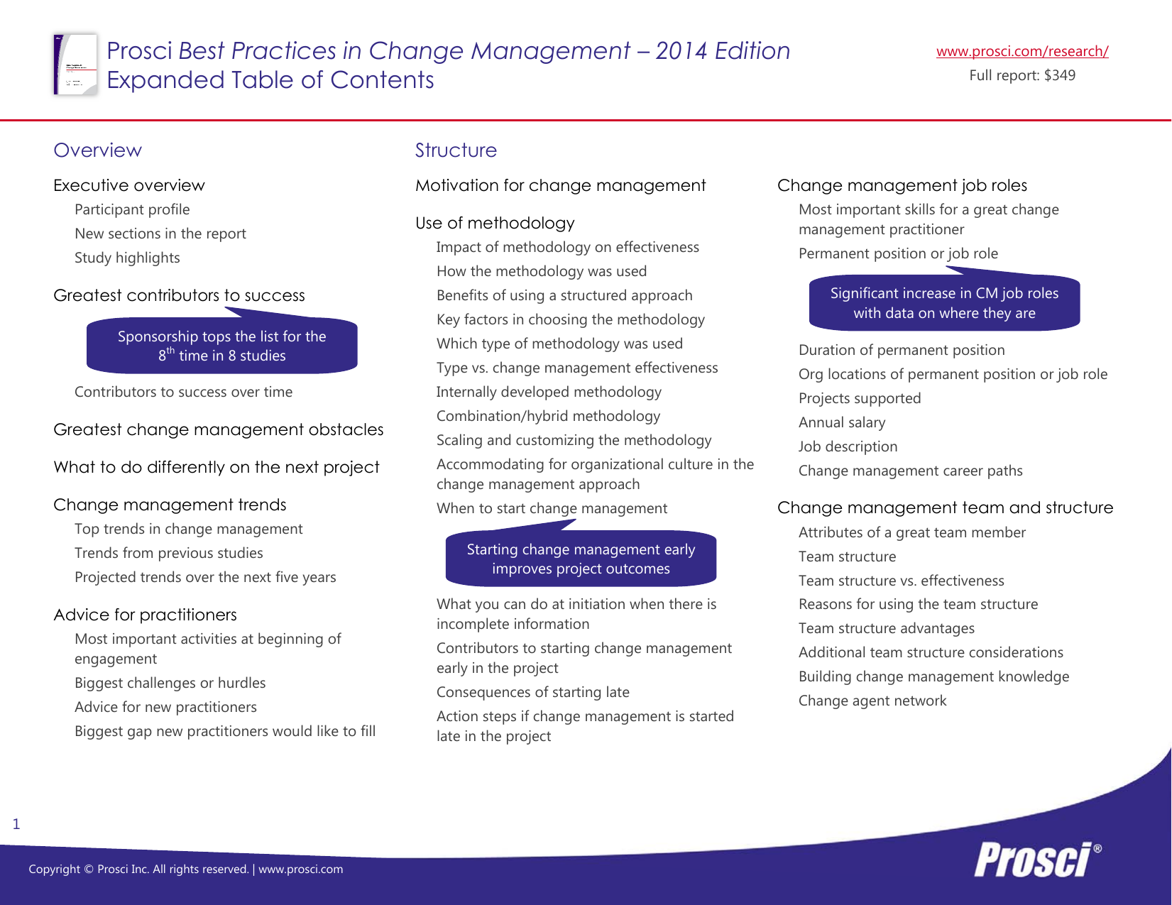 Best Practices in Change Management – 2014 Edition Overview