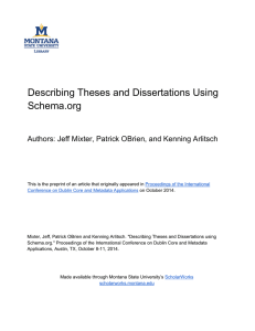 Describing Theses and Dissertations Using Schema.org Author