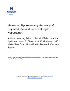 Measuring Up: Assessing Accuracy of Reported Use and Impact of Digital Repositories