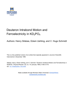 Deuteron Intrabond Motion and Ferroelectricity in KD PO