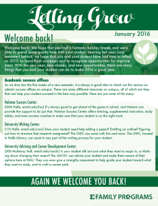 Letting Grow Welcome back! January 2016