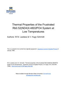 Thermal Properties of the Frustrated Rb0.52(ND4)0.48D2PO4 System at Low Temperatures
