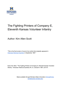 The Fighting Printers of Company E, Eleventh Kansas Volunteer Infantry