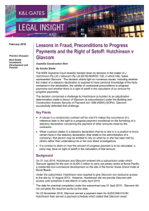 Lessons in Fraud, Preconditions to Progress Glavcom
