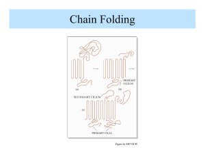Chain Folding Figure by MIT OCW. PRIMARY CILIUM