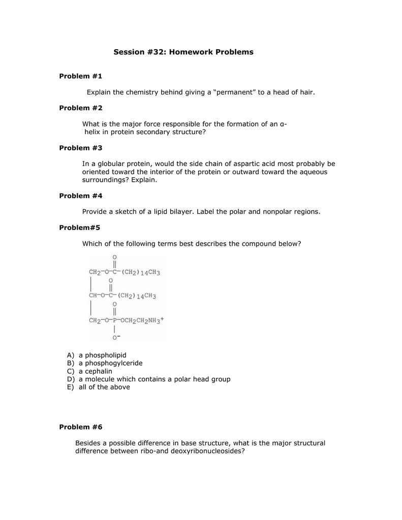 worksheet 12.2 The Structure Of Dna Worksheet Answers session 32 homework problems