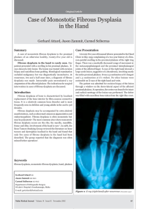 Case of Monostotic Fibrous Dysplasia in the Hand Case Presentation