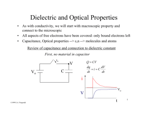 Dielectric and Optical Properties