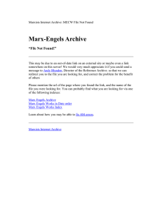 "Marx-Engels Archive ""File Not Found!"""