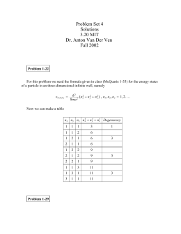 Problem Set 4 Solutions 3.20 MIT Dr. Anton Van Der Ven
