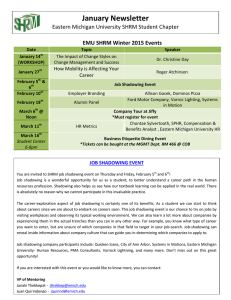 January Newsletter EMU SHRM Winter 2015 Events How Mobility is Affecting Your