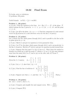 18.02 Final  Exam