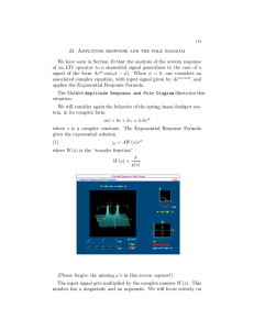 23.  Amplitude  response  and  the ... We have seen in Section 10 that the analysis of...