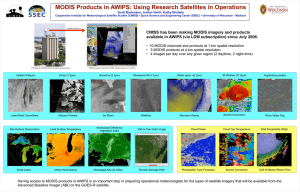 MODIS Products in AWIPS: Using Research Satellites in Operations