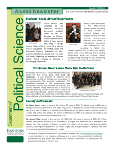 ce Alumni Newsletter Students' Study Abroad Experiences
