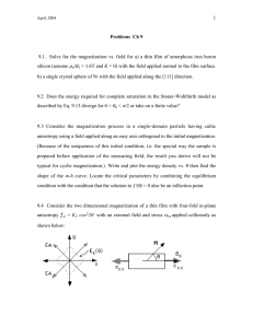 1 9.1.  Solve for the magnetization vs. field for a)... silicon (assume Problems  Ch 9