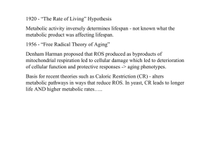 "1920 - ""The Rate of Living"" Hypothesis"