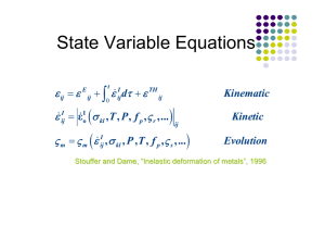 State Variable Equations ( ) ∫