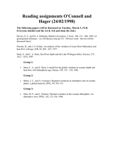 Reading assignments O'Connell and Hager (24/02/1998)