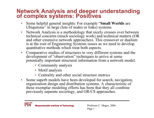 Network Analysis and deeper understanding of complex systems: Positives