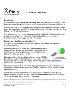 C. difficile Infections