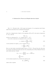5.  Karhunen-Loève  Theorem  and  Singular ... × Q>  R matrix  in  Eq. ...