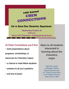 CHEM NS CONNECTIO Open to all students