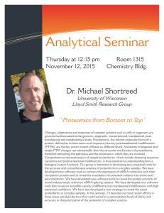 Analytical Seminar Dr. Michael Shortreed Information Technology Solutions