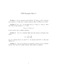 PDE Examples Sheet 2