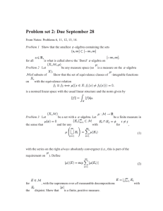 Problem set 2: Due September 28