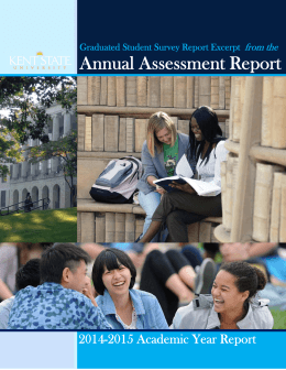 Annual Assessment Report  2014-2015 Academic Year Report from the