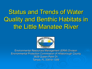 Status and Trends of Water Quality and Benthic Habitats in