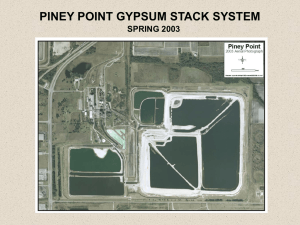 PINEY POINT GYPSUM STACK SYSTEM SPRING 2003