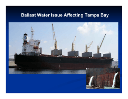 Ballast Water Issue Affecting Tampa Bay