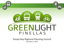 Tampa Bay Regional Planning Council  December 9, 2013