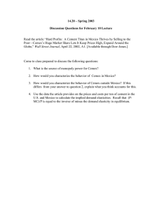 14.20 – Spring 2003 Discussion Questions for February 10 Lecture