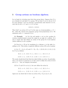 5 Group  actions  on  boolean  algebras.