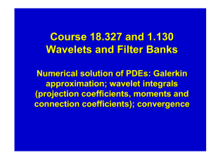 Course 18.327 and 1.130 Wavelets and Filter Banks