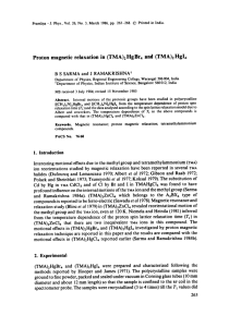 Proton  magnetic  relaxation  in  (TMA)2HgBr4 ... ( T M A ) 2 H g I 4