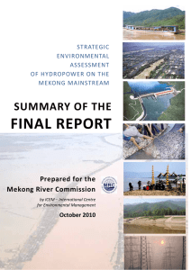 FINAL REPORT SUMMARY OF THE  Prepared for the  Mekong River Commission