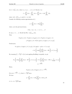 Lecture  23 Bounds in terms of sparsity. 18.465 �