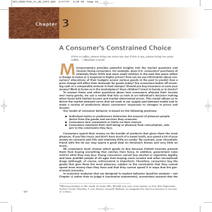 M 3 A Consumer's Constrained Choice Chapter