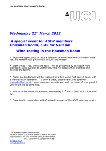 Wednesday 21 March 2012 A special event for ASCR members